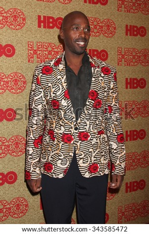 LOS ANGELES - JAN 12:  Ntare Mwine at the HBO 2014 Golden Globe Party at the Beverly Hilton Hotel on January 12, 2014 in Beverly Hills, CA - stock photo