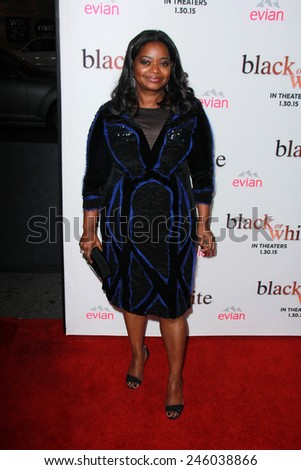 """LOS ANGELES - JAN 20:  Octavia Spencer at the """"Black Or White"""" Los Angeles Premiere at a Regal Cinemas on January 20, 2015 in Los Angeles, CA - stock photo"""