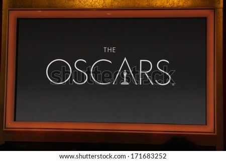 LOS ANGELES - JAN 16:  Oscars at the 86th Academy Awards Nominations Announcement  at AMPAS Samuel Goldwyn Theater on January 16, 2014 in Beverly Hills, CA - stock photo