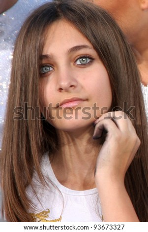 LOS ANGELES - JAN 26:  Paris Jackson at the Michael Jackson Immortalized  Handprint and Footprint Ceremony at Graumans Chinese Theater on January 26, 2012 in Los Angeles, CA - stock photo