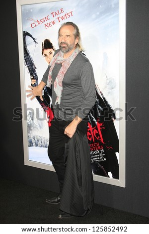LOS ANGELES - JAN 23: Peter Stormare at the LA premiere of Paramount Pictures' 'Hansel And Gretel: Witch Hunters' at Grauman's Chinese Theater on January 24, 2013 in Los Angeles, California - stock photo