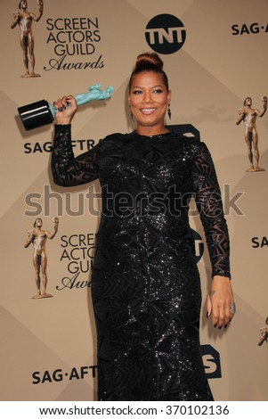 LOS ANGELES - JAN 30:  Queen Latifah at the 22nd Screen Actors Guild Awards at the Shrine Auditorium on January 30, 2016 in Los Angeles, CA - stock photo