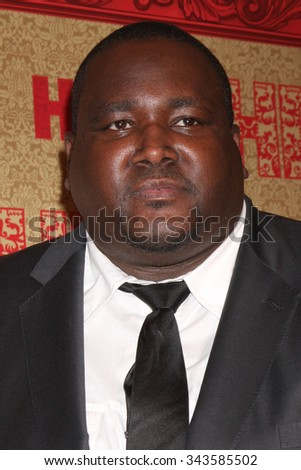 LOS ANGELES - JAN 12:  Quinton Aaron at the HBO 2014 Golden Globe Party at the Beverly Hilton Hotel on January 12, 2014 in Beverly Hills, CA - stock photo