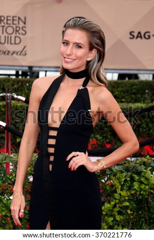 LOS ANGELES - JAN 30:  Renee Bargh at the 22nd Screen Actors Guild Awards at the Shrine Auditorium on January 30, 2016 in Los Angeles, CA - stock photo
