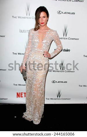 LOS ANGELES - JAN 11:  Rhona Mitra at the The Weinstein Company / Netflix Golden Globes After Party at a Beverly Hilton Adjacent on January 11, 2015 in Beverly Hills, CA - stock photo