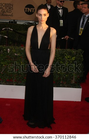 LOS ANGELES - JAN 30:  Rooney Mara at the 22nd Screen Actors Guild Awards at the Shrine Auditorium on January 30, 2016 in Los Angeles, CA - stock photo