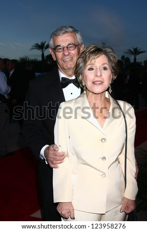 LOS ANGELES - JAN 5:  Senator Barbara Boxer and husband arrives at the 2013 Palm Springs International Film Festival Gala  at Palm Springs Convention Center on January 5, 2013 in Palm Springs, CA - stock photo
