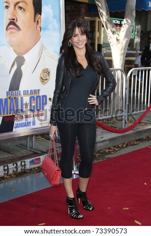 LOS ANGELES - JAN  10:  Sofia Vergara arrives at the premiere of 'Paul Blart Mall Cop' in Los Angeles, California on January 10, 2009. - stock photo