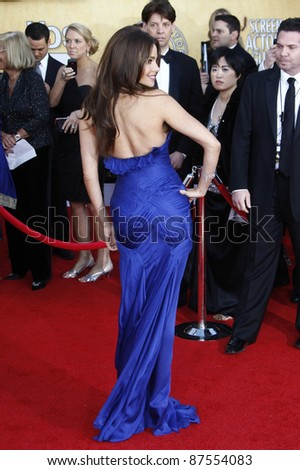 LOS ANGELES - JAN 30: Sofia Vergara arrives at The 17th Annual SAG Awards held at the Shrine Auditorium on January 30, 2011 in Los Angeles, California. - stock photo