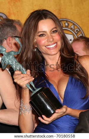 LOS ANGELES - JAN 30:  Sofia Vergara in the Press Room at the 2011 Screen Actors Guild Awards  at Shrine Auditorium on January 30, 2011 in Los Angeles, CA - stock photo
