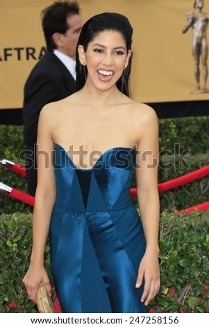 LOS ANGELES - JAN 25:  Stephanie Beatriz at the 2015 Screen Actor Guild Awards at the Shrine Auditorium on January 25, 2015 in Los Angeles, CA