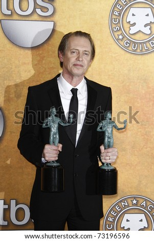 LOS ANGELES - JAN 30:  Steve Buscemi in the press room at The 17th Annual SAG Awards held at the Shrine Auditorium in Los Angeles, California on January 30, 2011.
