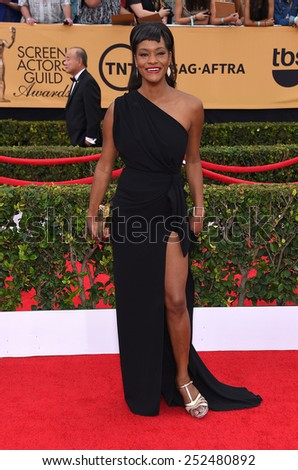 LOS ANGELES - JAN 25:  Sufe Bradshaw arrives to the 21st Annual Screen Actors Guild Awards  on January 25, 2015 in Los Angeles, CA                 - stock photo