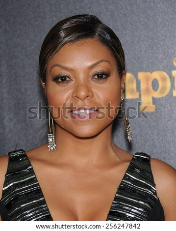 "LOS ANGELES - JAN 06:  Taraji P. Henson arrives to the ""Empire"" Los Angeles Premiere  on January 6, 2015 in Hollywood, CA                 - stock photo"