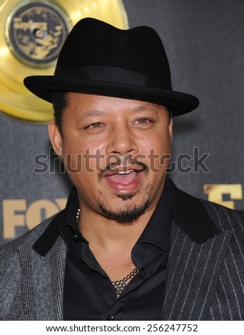 """LOS ANGELES - JAN 06:  Terrence Howard arrives to the """"Empire"""" Los Angeles Premiere  on January 6, 2015 in Hollywood, CA                 - stock photo"""