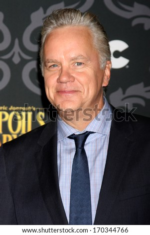"LOS ANGELES - JAN 7:  Tim Robbins at the IFC's ""The Spoils Of Babylon"" Screening at Directors Guild of America on January 7, 2014 in Los Angeles, CA - stock photo"