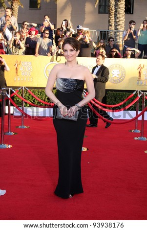 LOS ANGELES - JAN 29:  Tina Fey arrives at the 18th Annual Screen Actors Guild Awards at Shrine Auditorium on January 29, 2012 in Los Angeles, CA - stock photo