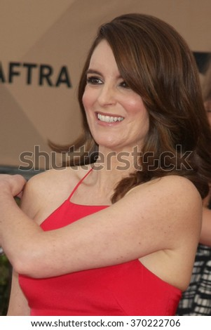 LOS ANGELES - JAN 30:  Tina Fey at the 22nd Screen Actors Guild Awards at the Shrine Auditorium on January 30, 2016 in Los Angeles, CA - stock photo