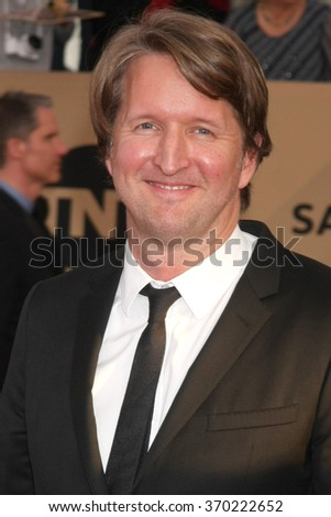 LOS ANGELES - JAN 30:  Tom Hooper at the 22nd Screen Actors Guild Awards at the Shrine Auditorium on January 30, 2016 in Los Angeles, CA - stock photo