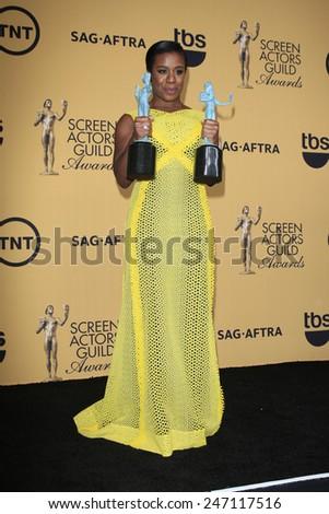 LOS ANGELES - JAN 25:  Uzo Aduba at the 2015 Screen Actor Guild Awards at the Shrine Auditorium on January 25, 2015 in Los Angeles, CA - stock photo