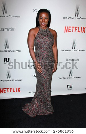 LOS ANGELES - JAN 11:  Uzo Aduba at the The Weinstein Company / Netflix Golden Globes After Party at a Beverly Hilton Adjacent on January 11, 2015 in Beverly Hills, CA - stock photo