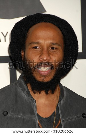 LOS ANGELES - JAN 26:  Ziggy Marley arrives at the 56th Annual Grammy Awards Arrivals  on January 26, 2014 in Los Angeles, CA                 - stock photo