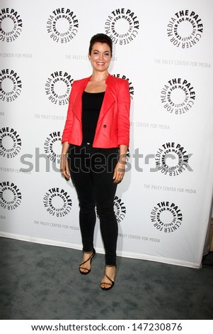 """LOS ANGELES - JUL 16:  Bellamy Young arrives at  """"An Evening With Web Therapy: The Craze Continues..."""" at the Paley Center for Media on July 16, 2013 in Beverly Hills, CA - stock photo"""