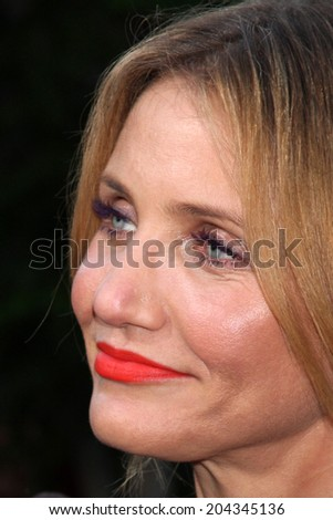 "LOS ANGELES - JUL 10:  Cameron Diaz at the ""Sex Tape"" Premiere at the Village Theater on July 10, 2014 in Westwood, CA"