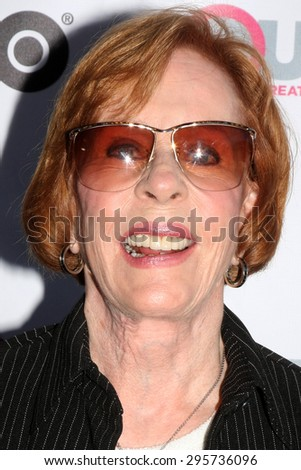 """LOS ANGELES - JUL 11:  Carol Burnett at the """"Tab Hunter Confidential"""" at Outfest at the Directors Guild of America on July 11, 2015 in Los Angeles, CA - stock photo"""