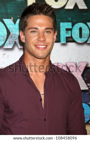 LOS ANGELES - JUL 23:  Dean Geyer arrives at the FOX TCA Summer 2012 Party at Soho House on July 23, 2012 in West Hollywood, CA - stock photo