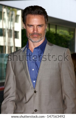 LOS ANGELES - JUL 24:  Dylan Neal arrives at  the Hallmark Channel Summer TCA event at the Beverly Hilton Hotel on July 24, 2013 in Beverly Hills, CA