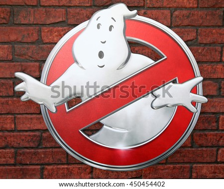 LOS ANGELES - JUL 9:  Ghostbusters Emblem at the Ghostbusters Premiere at the TCL Chinese Theater IMAX on July 9, 2016 in Los Angeles, CA - stock photo