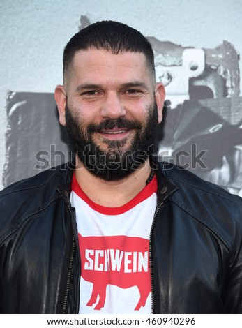 "LOS ANGELES - JUL 19:  Guillermo Diaz arrives to the ""Lights Out"" Los Angeles Premiere on July 19, 2016 in Hollywood, CA"