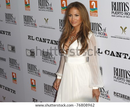 LOS ANGELES - JUL 31: Jennifer Lopez  at the premiere of 'El Cantante' held at the Director's Guild of America in West Hollywood, CA on July 31, 2007. - stock photo