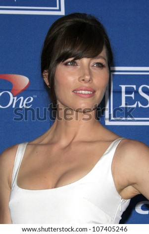 LOS ANGELES - JUL 11:  Jessica Biel in the Press Room of the 2012 ESPY Awards at Nokia Theater at LA Live on July 11, 2012 in Los Angeles, CA - stock photo