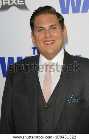 "LOS ANGELES - JUL 23: Jonah Hill at the premiere of ""The Watch"" held at Grauman's Theater on July 23, 2012 in Los Angeles, California - stock photo"