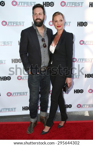 "LOS ANGELES - JUL 10:  Josh Kelley, Katherine Heigl at the ""Jenny's Wedding"" Premiere at Outfest at the Directors Guild of America on July 10, 2015 in Los Angeles, CA - stock photo"