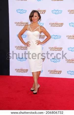"LOS ANGELES - JUL 21:  Karina Smirnoff at the ""Guardians Of The Galaxy"" Premiere at the Dolby Theater on July 21, 2014 in Los Angeles, CA"