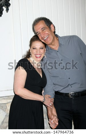 LOS ANGELES - JUL 27:  Kathleen Gati, Michael Browers arrives at the 2013 General Hospital Fan Club Luncheon  at the Sportsman's Lodge on July 27, 2013 in Studio City, CA - stock photo