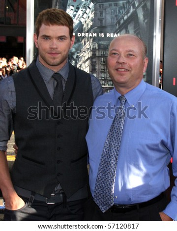 LOS ANGELES - JUL 13:  Kellan Lutz & Father arrive at the Inception Premiere at Grauman's Chinese Theater on July13, 2010 in Los Angeles, CA ....
