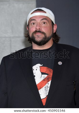 "LOS ANGELES - JUL 9:  Kevin Smith  arrives to the ""Ghostbusters"" World Premiere  on July 9, 2016 in Hollywood, CA                 - stock photo"