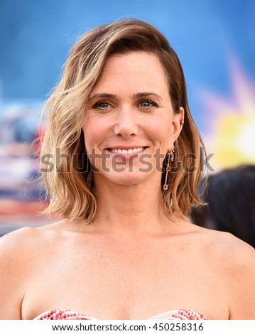 "LOS ANGELES - JUL 9:  Kristen Wiig arrives to the ""Ghostbusters"" Los Angeles Premiere on July 09, 2016 in Hollywood, CA.                - stock photo"