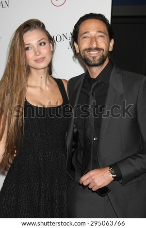 "LOS ANGELES - JUL 9:  Lara Lieto, Adrian Brody at the ""Irrational Man"" Los Angeles Premiere at the Writer's Guild of America Theater on July 9, 2015 in Beverly Hills, CA - stock photo"
