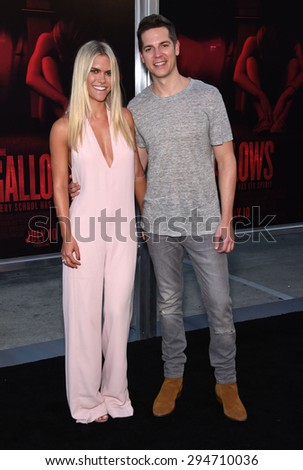 """LOS ANGELES - JUL 07:  Lauren Scruggs & Jason Kennedy arrives to the """"The Gallows"""" Los Angeles Premiere  on July 07, 2015 in Hollywood, CA                 - stock photo"""