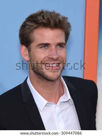 "LOS ANGELES - JUL 27:  Liam Hemsworth arrives to the ""Vacation"" Los Angeles Premiere  on July 27, 2015 in Westwood, CA                 - stock photo"