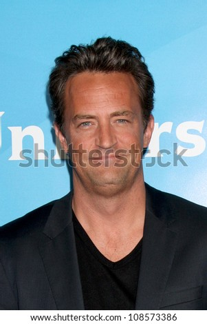 LOS ANGELES - JUL 24:  Matthew Perry arrives at the NBC TCA Summer 2012 Press Tour at Beverly Hilton Hotel on July 24, 2012 in Beverly Hills, CA - stock photo