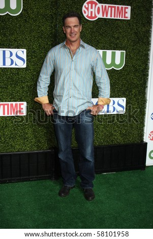 LOS ANGELES - JUL 28:  Patrick Warburten arrives at the 2010 CBS, The CW, Showtime Summer Press Tour Party  at The Tent Adjacent to Beverly Hilton Hotel on July28, 2010 in Beverly Hills, CA ...