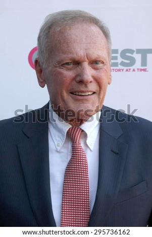 """LOS ANGELES - JUL 11:  Tab Hunter at the """"Tab Hunter Confidential"""" at Outfest at the Directors Guild of America on July 11, 2015 in Los Angeles, CA - stock photo"""