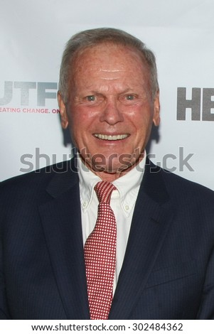 "LOS ANGELES - JUL 11:  Tab Hunter, Don Murray at the ""Tab Hunter Confidential"" at Outfest at the Directors Guild of America on July 11, 2015 in Los Angeles, CA - stock photo"