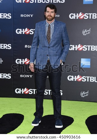 "LOS ANGELES - JUL 9:  Tim Simons arrives to the ""Ghostbusters"" World Premiere  on July 9, 2016 in Hollywood, CA                 - stock photo"